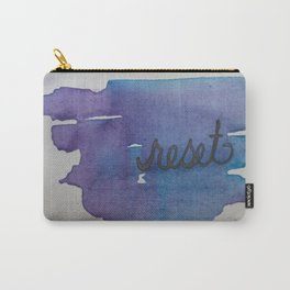 reset watercolor print Carry-All Pouch