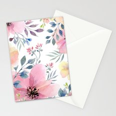 flower watercolor 1 Stationery Cards
