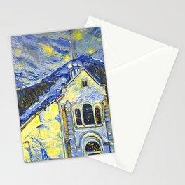 Chamonix. Saint- Michele church Stationery Cards