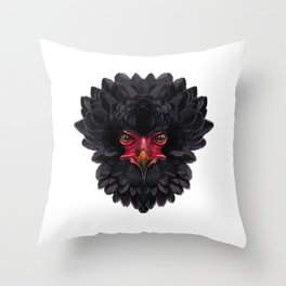 Black eagle Africa Throw Pillow