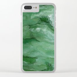 Jade - Original Art (encaustic painting) Clear iPhone Case