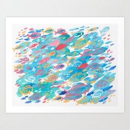 blue school Art Print