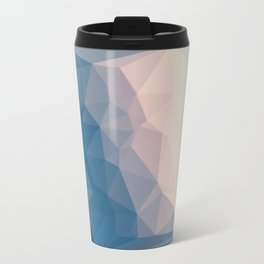 BE WITH ME - TRIANGLES ABSTRACT #PINK #BLUE #1 Travel Mug