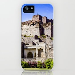 Looking up at Golconda Fort in Hyderabad, India iPhone Case
