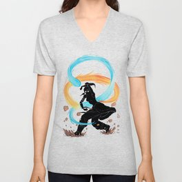 The Legend of Korra Stencil Unisex V-Neck