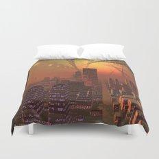 Spherople Alien City Duvet Cover