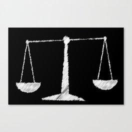 Chalkboard Scales Canvas Print