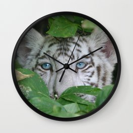 White Tiger Wall Clock