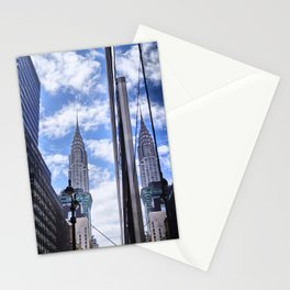 Chrysler Building Reflections in Midtown Stationery Cards