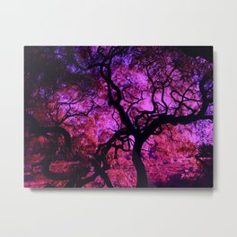Under the Tree in Pink and Purple Metal Print