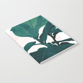 Blush Green Fiddle Leaf Dream #1 #tropical #decor #art #society6 Notebook