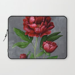 Red Peony Flower Painting Laptop Sleeve