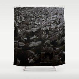 Black Steel Shower Curtain