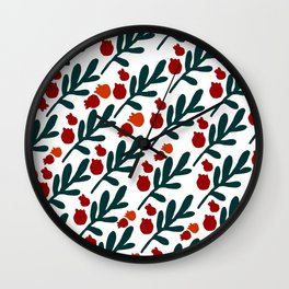 TWIGS AND BERRIES Wall Clock