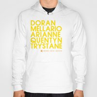 martell Hoodies featuring Doran Martell Typography series II by P3RF3KT
