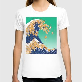 Christmas Shiba Inu The Great Wave T-shirt