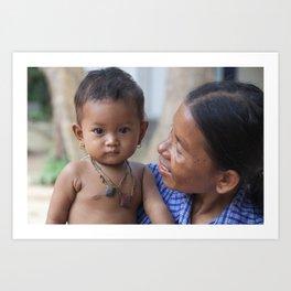 Cambodian eyes Art Print