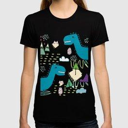 Cool T-rex Fun party teal #homedecor T-shirt