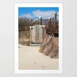 Beach House Gate Art Print
