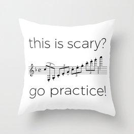 Go practice - clarinet Throw Pillow
