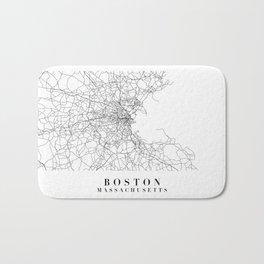 Boston Massachusetts Street Map Minimal Bath Mat