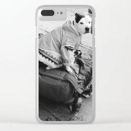 dog in a sweater Clear iPhone Case