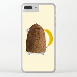 Kettle coconut Clear iPhone Case