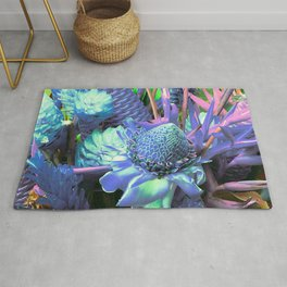 Candy-Colored Tropical Succulents Rug