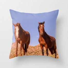 Wild_Horses 3501 - Nevada Throw Pillow
