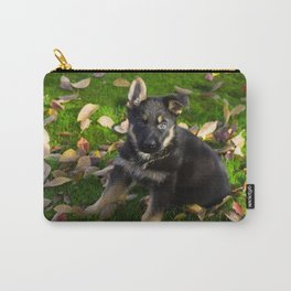 Little German Shepherd puppy Carry-All Pouch
