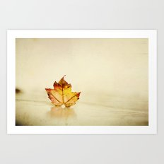 Maple grunge Art Print