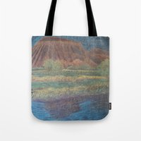 garfield Tote Bags featuring Mt. Garfield and Reflection by Brusling