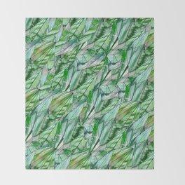 Crystal Emerald Green Gem 1 Throw Blanket