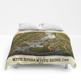 Map Of Mystic 1879 Comforters