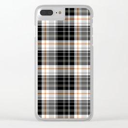 Grey Tartan Clear iPhone Case