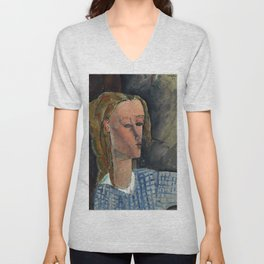 "Amedeo Modigliani ""Beatrice Hastings"", 1916 Unisex V-Neck"