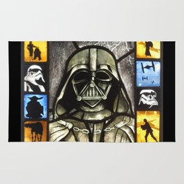 Stained Glass Star.Wars Darth Vader Rug