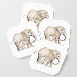 Mom and Baby Elephant 2 Coaster