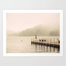 Misty Shrine Art Print