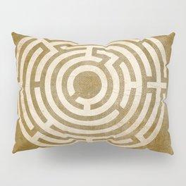 Solving Mazes Gold Pillow Sham