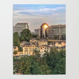 Luxembourg City Poster