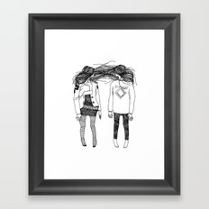 Love is for suckers. Framed Art Print
