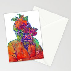 FLOWERS HEAD Stationery Cards