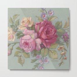 French Fleurs Rose Bouquet Metal Print