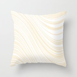 Zebra Print Abstract Swirl Beige and White Throw Pillow