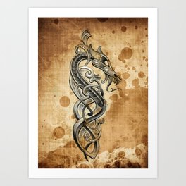 Celtic  tattoo design Art Print