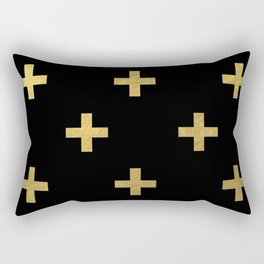 Crosses - gold Rectangular Pillow