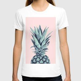Blush Pineapple Dream #1 #tropical #fruit #decor #art #society6 T-shirt