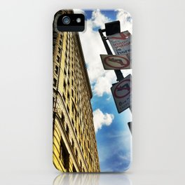 Looking Up At Flat Iron iPhone Case