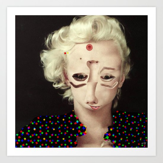 Mix Marilyn Collage 3 Art Print